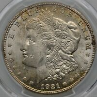 1921-S MORGAN SILVER DOLLAR  PCGS MINT STATE 64  TONED