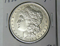AU 1886-O MORGAN SILVER DOLLAR ABOUT UNCIRCULATED NEW ORLEANS MINT COIN 51821-2