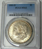PCGS MINT STATE 63 1901-O MORGAN SILVER DOLLAR NEW ORLEANS MINT 34854930