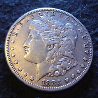 1883-CC MORGAN SILVER DOLLAR - BEAUTIFUL EXTRA FINE  DETAILS FROM THE CARSON CITY MINT
