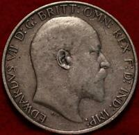 1906 GREAT BRITAIN FLORIN SILVER FOREIGN COIN