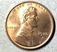 1970 S   SMALL DATE   LINCOLN MEMORIAL CENT   AU CONDITION