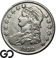 1832 CAPPED BUST HALF DOLLAR EARLY DATE SILVER 50C