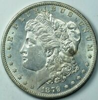 1879 S MORGAN DOLLAR $1 ABOUT UNCIRCULATED AU
