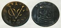 INCREDIBLE      1757 COLONIAL COPPER COIN     EARLY NEW YORK