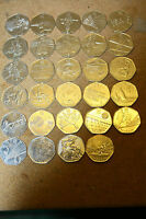 2011 LONDON OLYMPICS 50P COINS ALL IN GOOD CONDITION   BECOMING
