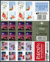 IMPERF 2014 FOREVER STAMP BOOKLETS   ONE EACH WINTER FUN RUDOLPH CHRISTMAS MAGI