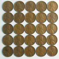 LOT OF 50 1930 S 1C LINCOLN WHEAT CENT PENNIES VF-EXTRA FINE  ROLL 42280