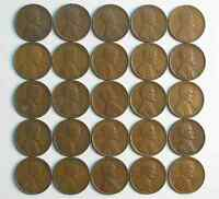 LOT OF 50 1930 S 1C LINCOLN WHEAT CENT PENNIES VF-EXTRA FINE  ROLL 42211