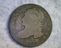 1830 CAPPED BUST SILVER DIME G/VG