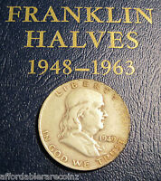 2ND YEAR OF ISSUE 1949 D SILVER FRANKLIN HALF! 529C