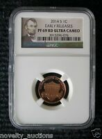 N15 2014 S 1C PENNY LINCOLN PF69 RD ULTRA CAMEO EARLY RELEASES NGC 3913296 076