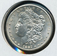 1887 S MORGAN SILVER DOLLAR COIN BU GREAT BUY DOM2785