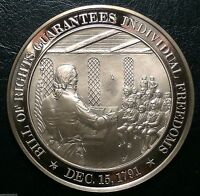 BILL OF RIGHTS GUARANTEES INDIVIDUAL FREEDOMS 1791  FRANKLIN MINT BRONZE MEDAL