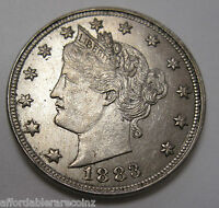 1883 NO CENTS LIBERTY 'V' NICKEL IN UNC   529AG