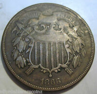 1866 CIVIL WAR ERA TWO CENT COIN FAST SHIPPING 225G