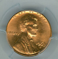 1963 D LINCOLN CENT PCGS MS66 PQ RED FINEST REGISTRY LY