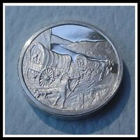 FRANKLIN MINT STERLING SILVER MINI INGOT: 1843 OREGON TRAIL GREAT MIGRATION