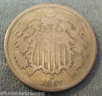 1867 TWO CENT COIN  1129Q