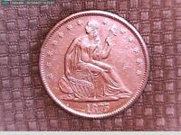 1875S SEATED LIBERTY TYPE HALF DOLLAR WITH MOTTO