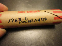 1963 D UNC. LINCOLN  ROLL OF 50 COINS       WE COMBINE SHIPPING