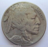 1929 S BUFFALO INDIAN HEAD NICKEL FIVE CENTS COIN NICE AU 814L