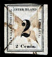 HAWAII 16 USED  W/ HPS CERT NUMERAL ISSUE OF 1859   VF    $850.00   ESP6766