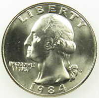 1984 D UNCIRCULATED WASHINGTON QUARTER BU B01