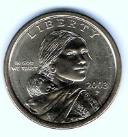 2003 P $1 BRILLIANT UNCIRCULATED BUSINESS STRIKE SACAGAWEA DOLLAR COIN
