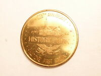 1966 BRASS COLORED SOUVENIR TOKEN: 225TH ANNIVERSARY YORK PA  1741 1966