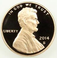 2014 S DEEP CAMEO PROOF LINCOLN SHIELD CENT PENNY B04