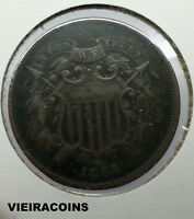 1864   TWO CENT  -  HIGH GRADE  -  FIRST YEAR  -   SHIPS FREE   -    3503