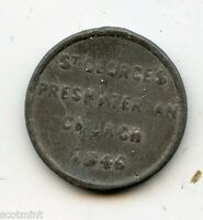 SOUTHWARK 1846 ST GEORGES ENGLISH  COMMUNION CHURCH TOKEN