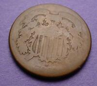 UGLY COIN CONTEST ENTRY  TWO CENTS 1868  AA37