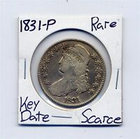 1831 P CAPPED BUST SILVER HALF DOLLAR  DATE US MINT SILVER COIN