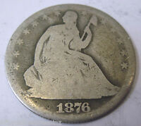 1876 SILVER SEATED LIBERTY HALF DOLLAR COLLECTOR COIN 515H