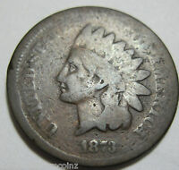 1873 EARLY COPPER INDIAN HEAD CENT  45C