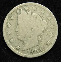 1903 LIBERTY V NICKEL GOOD B04