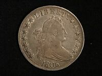 1806 US  DRAPED BUST SILVER HALF DOLLAR, POINTED 6 STEM,  EXTRA FINE