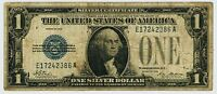 SERIES 1928 $1.00 ONE DOLLAR SILVER CERTIFICATE FUNNY BACK NOTE FR 1600 VG 386A