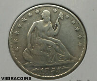 1855 O  LIBERTY SEATED  50 CENTS   ARROW AT DATE NO MOTTO       A6933