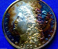 1900 P FLASHY TONED MORGAN DOLLAR THE PICTURES SPEAK FOR THEMSELVES