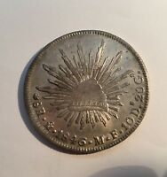 MEXICO   MEXICO CITY MINT 1846 MOMF 8 REALES SILVER COIN JUST ABOUT UNCIRCULATED