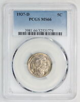 1937 D BUFFALO NICKEL MS 66 PCGS 1774