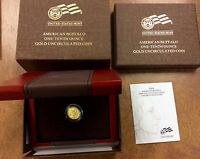 {BJSTAMPS}  2008 W $5 1/10 TH BU  GOLD BUFFALO .9999 W/ OGP BOX  COA