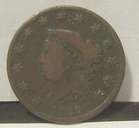 1829 CORONET HEAD LARGE CENT    LARGE LETTERS   YOU GRADE  K164