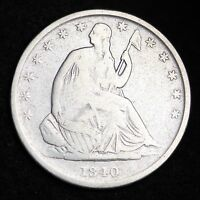 1840 O SEATED LIBERTY HALF DOLLAR CHOICE FINE  E350 ET