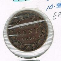 CANADA LARGE CENT 1888 VF