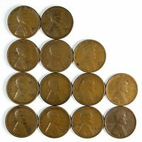 LOT OF 13 1928 S 1C LINCOLN WHEAT CENT PENNIES F FINE / F W/BLEMISHES 76097
