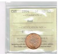 CANADA ICCS SMALL CENT 1994 MS 65R RL282